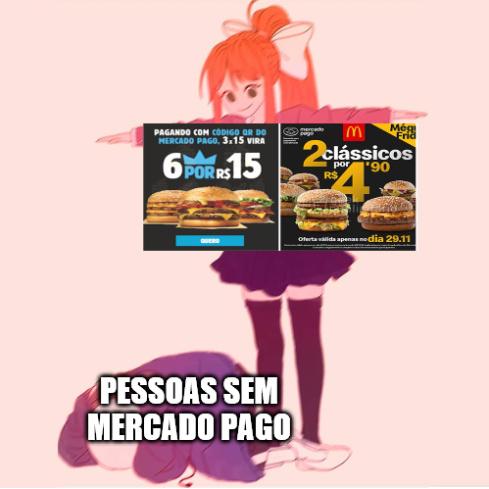 o que irrita não é a vontade de comer hambúrguer, é a tristeza de perder essas promoções ;-; - meme