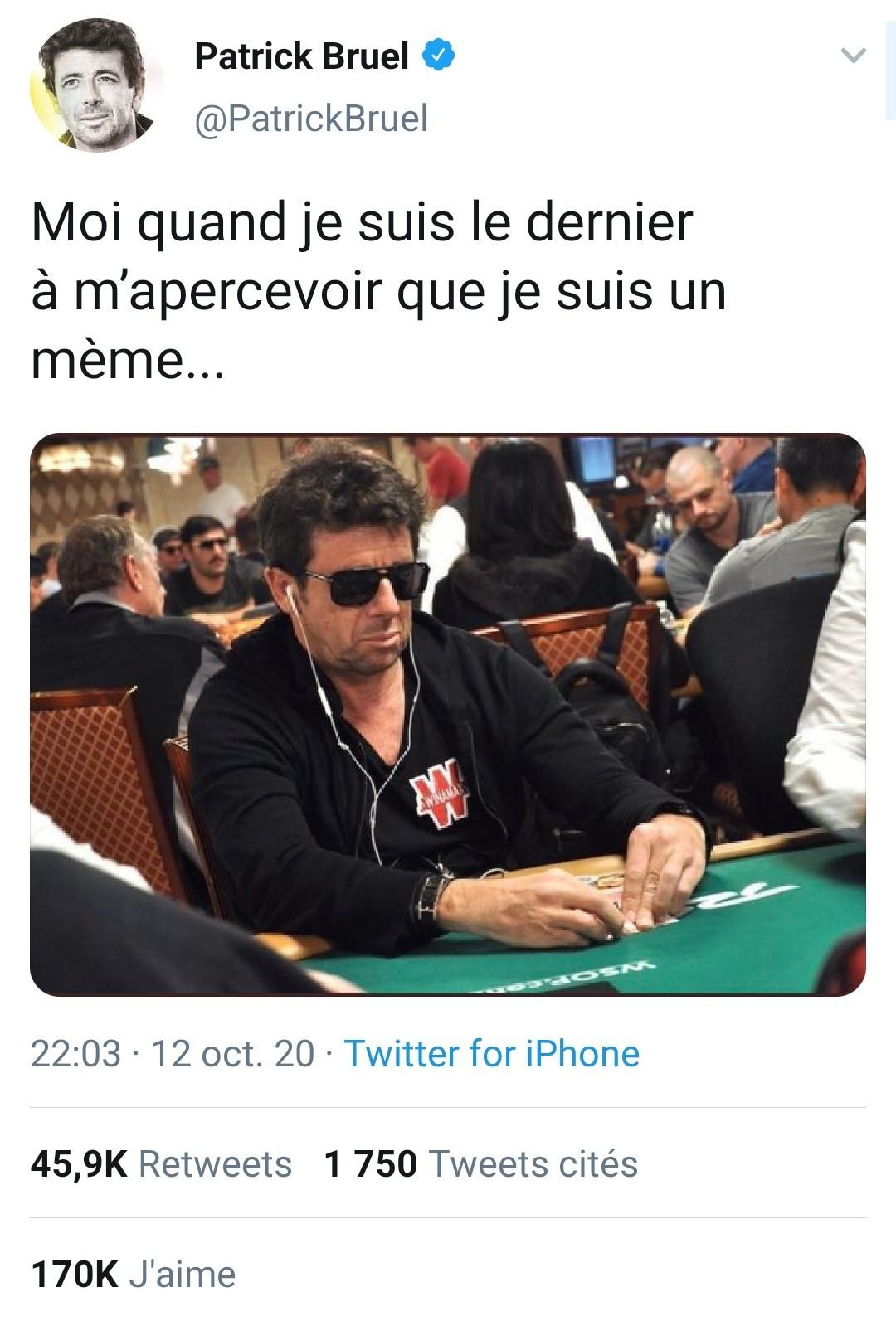Même Patrick utilise son meme