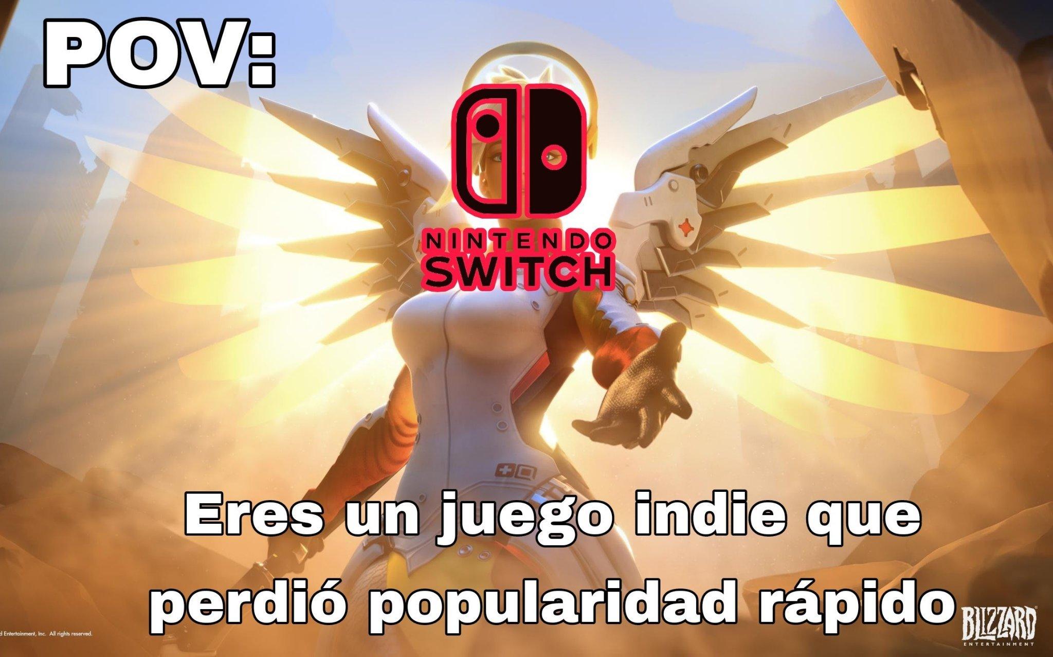 La mayoria de juegos que no tienen éxito les va mejor en Nintendo Switch - meme