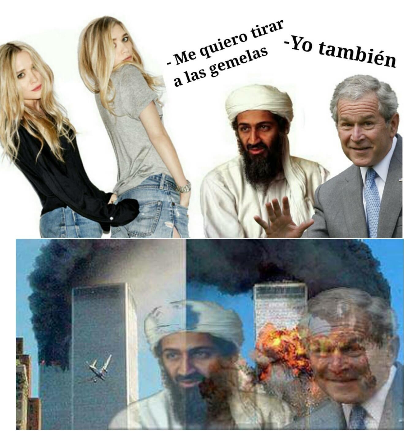 Es gracioso porque habla de las torres gemelas :^) - meme