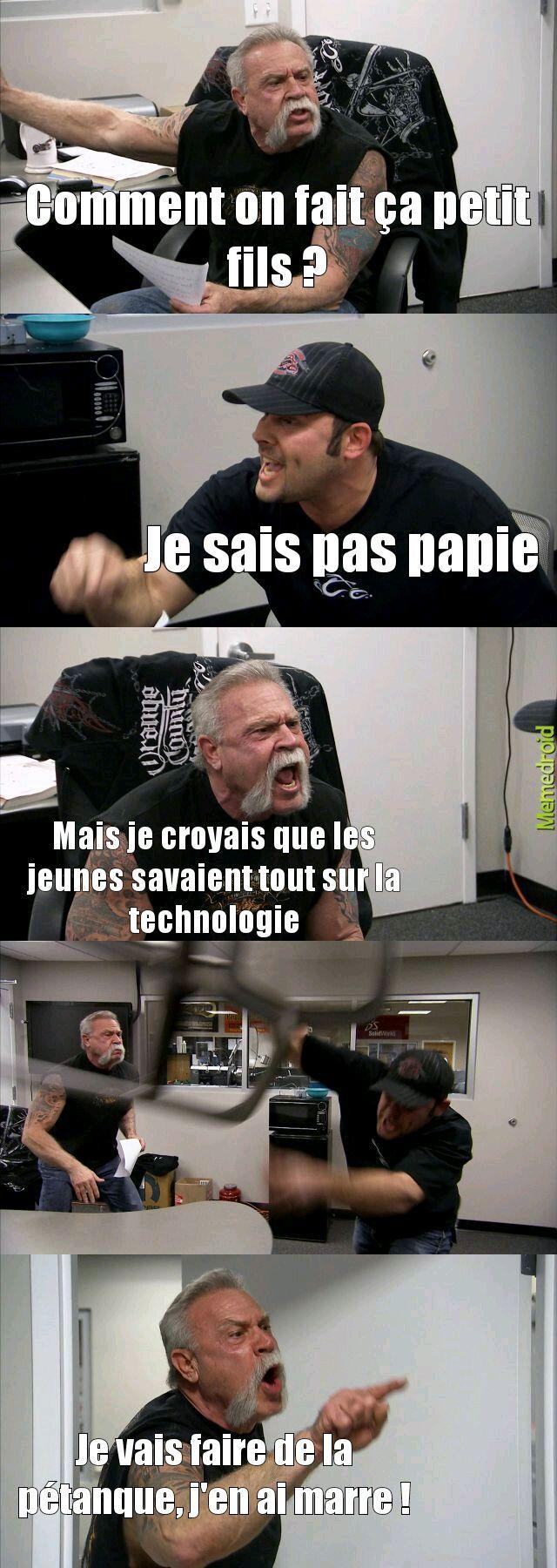 Les vieux et la technologie - meme