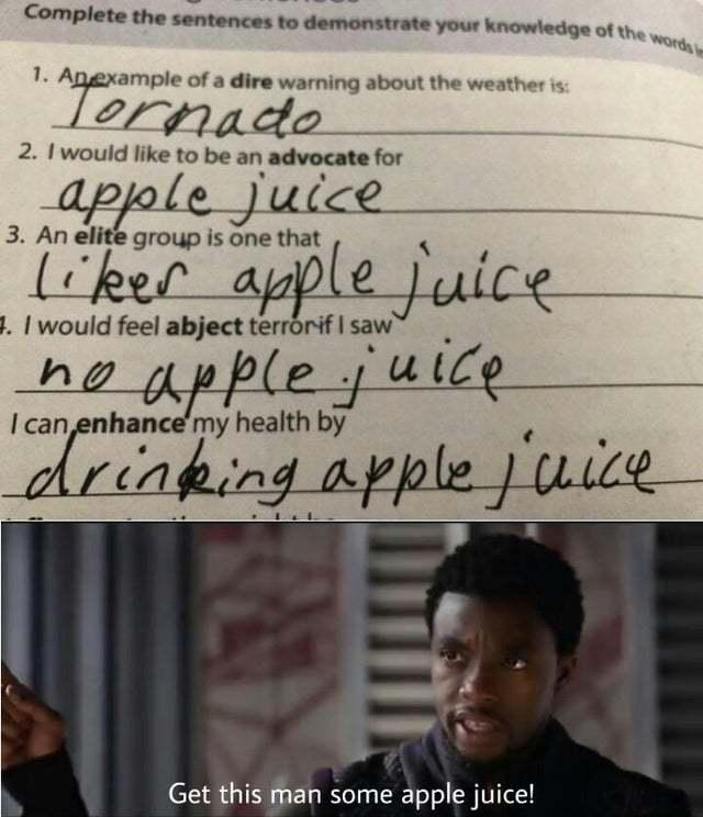 Love apple juice - meme