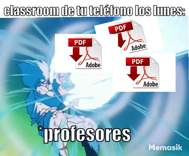 Mire en el PDF, joven. Eso me dijo mi profe de castellano ayer. - meme