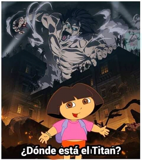 donde esta el titan? - meme
