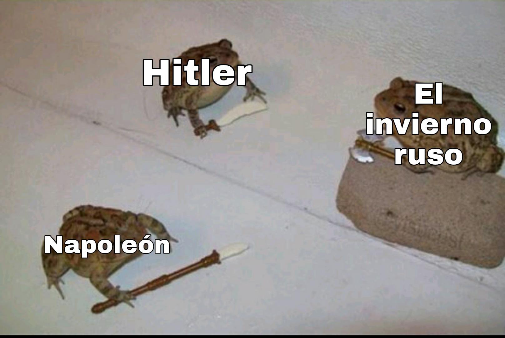 El titulo murió por invadir Rusia - meme