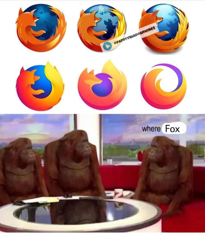 Firefox sem o fox - meme
