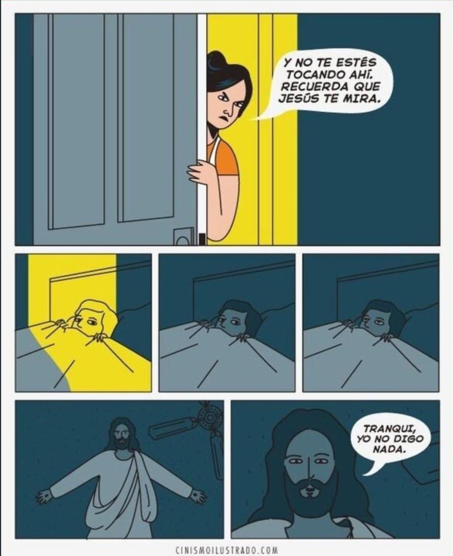 Jesus no es sapo - meme