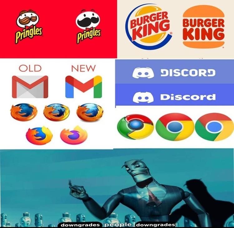 upgrades but downgrades - meme
