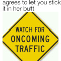Exit only, watch for oncoming traffic