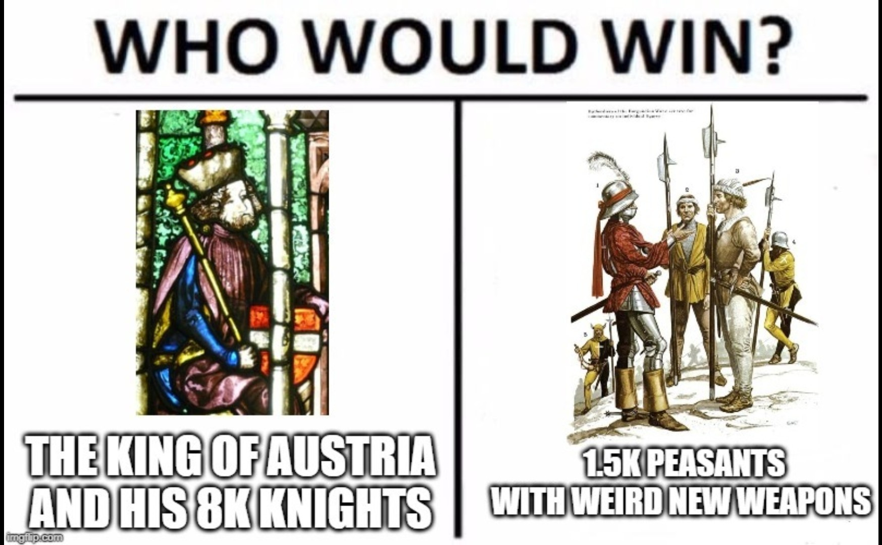 The Battle of Morgarten - meme