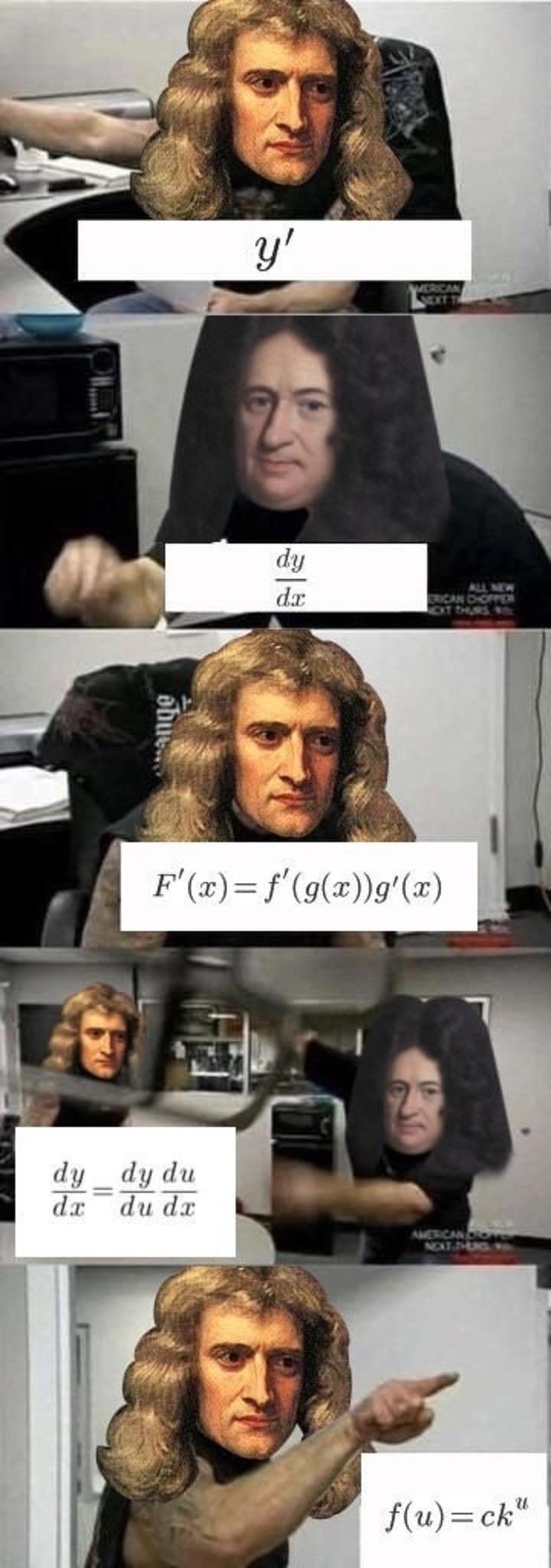 Newton vs Leibniz - meme