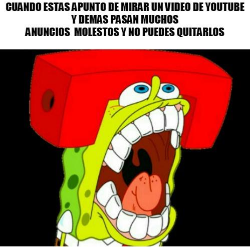 youtube y sus anuncios - meme