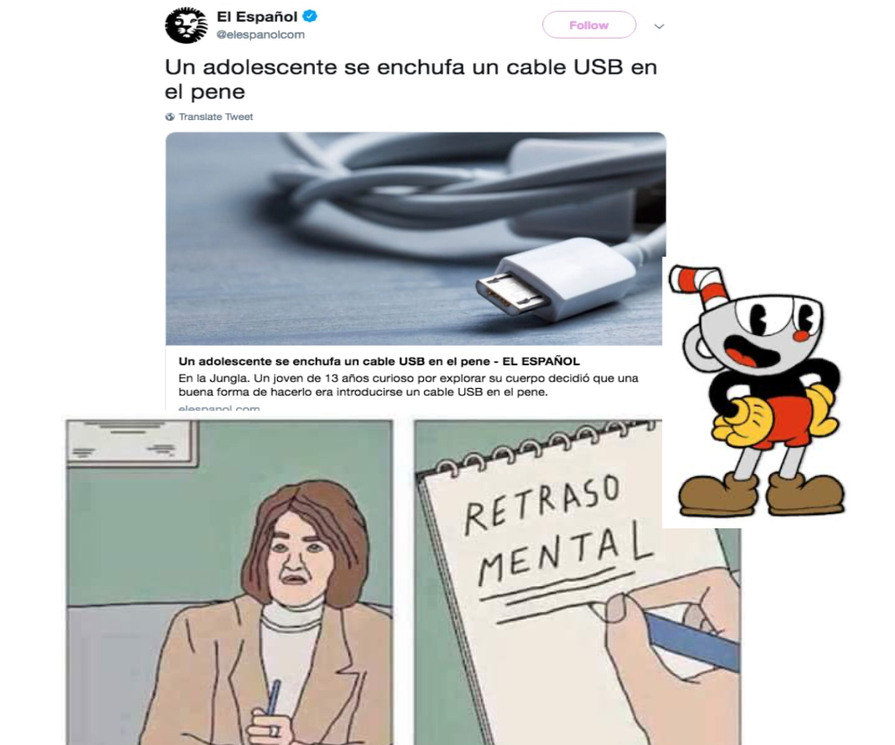 Retraso mental... - meme