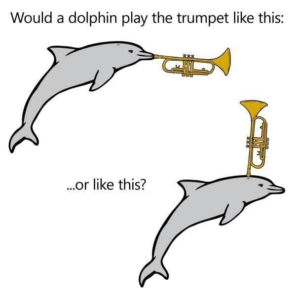 Insert trumpet - meme