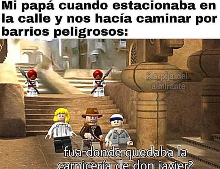 Quien no jugó lego Indiana Jones teniendo una Wii no tuvo infancia - meme