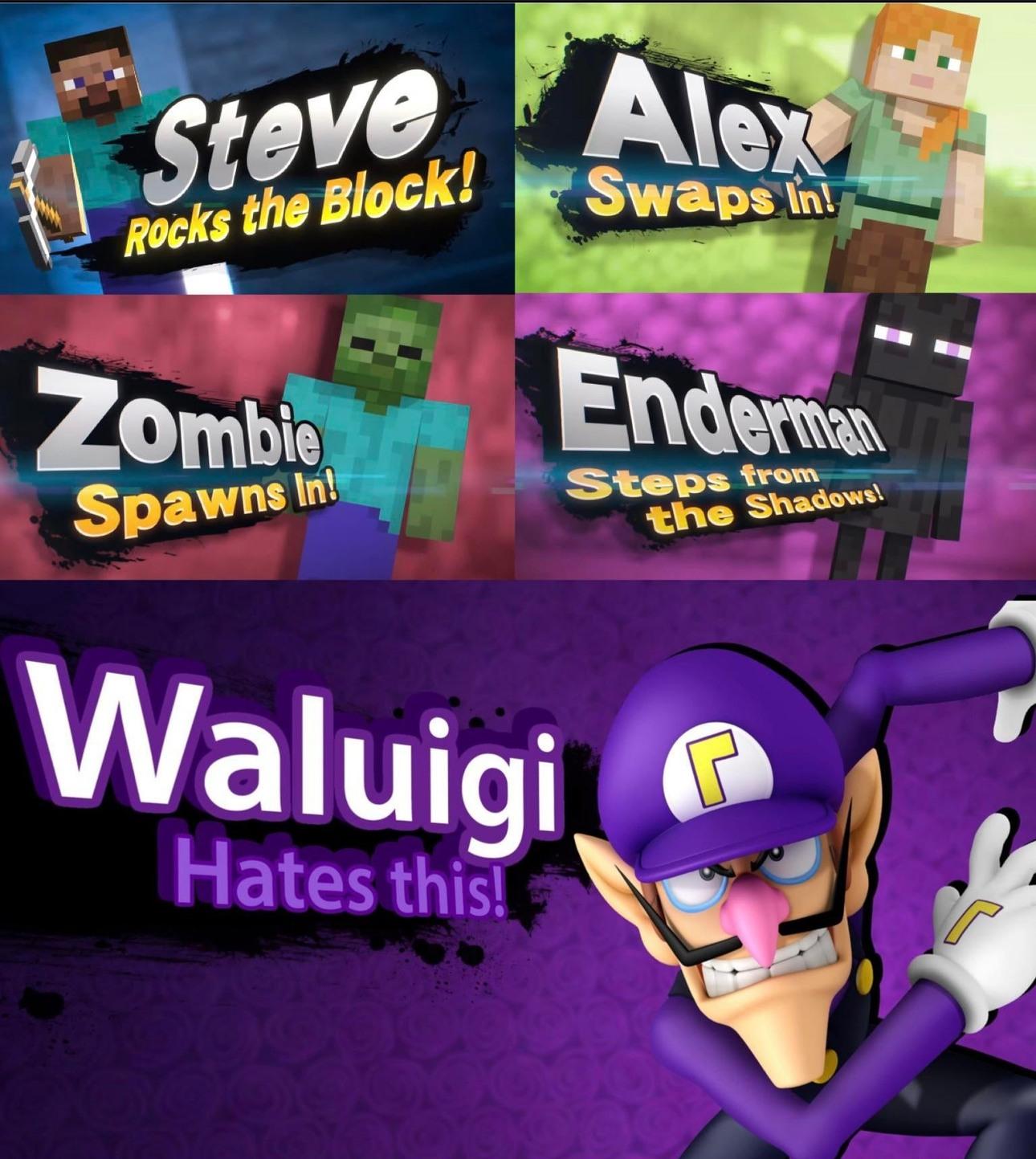 Poor waluigi - meme
