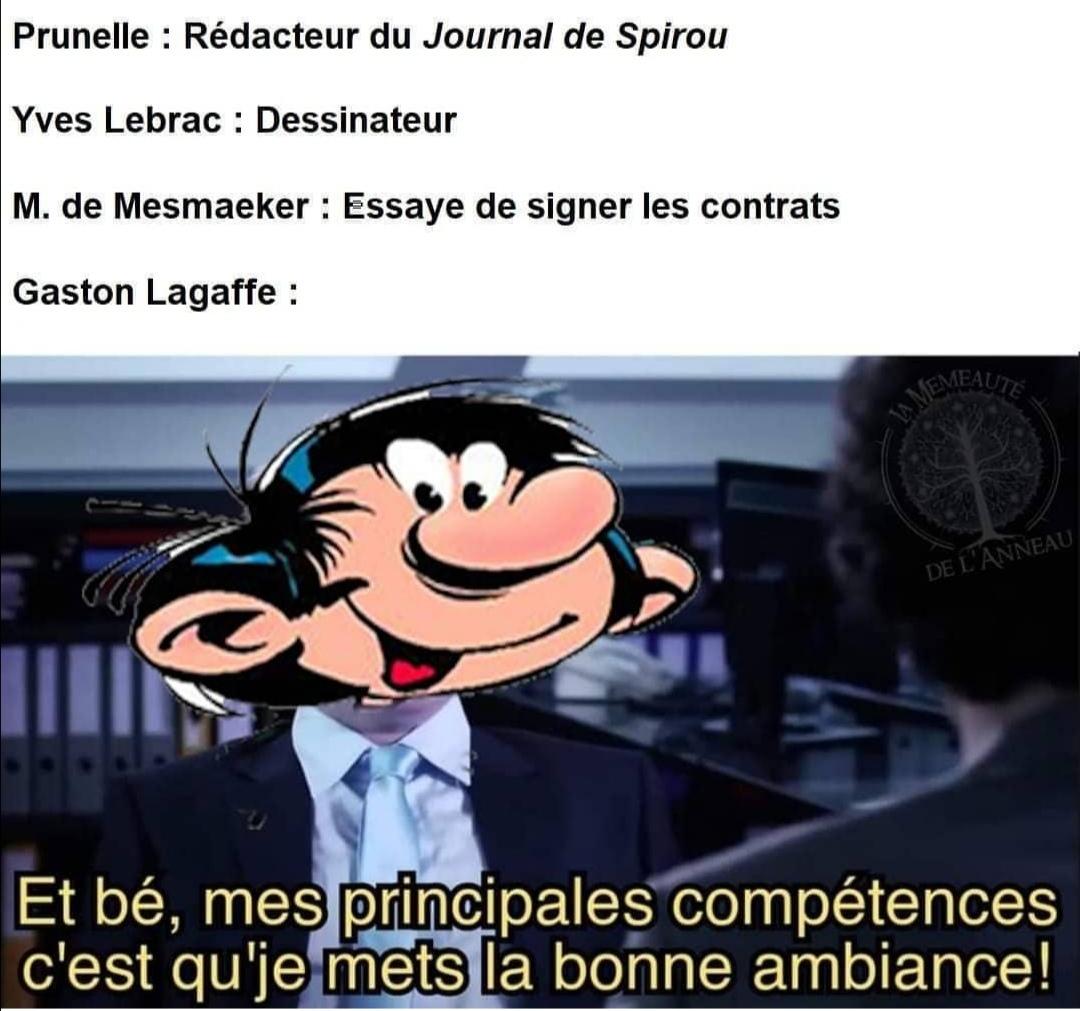 Gaston Lagaffe - meme