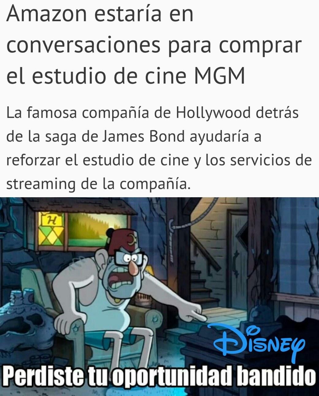 Al menos no lo va a comprar Disney - meme