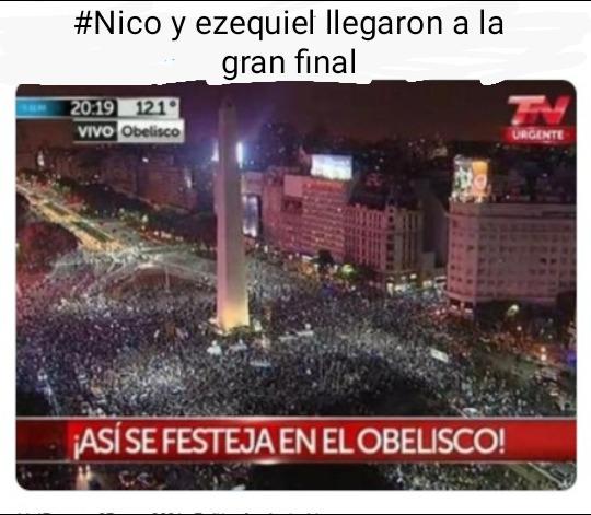 Nico y ezequiel pasaron a la gran final de la voz argentina - meme