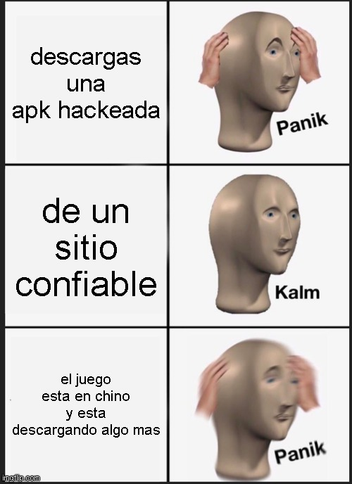 mega panik - meme