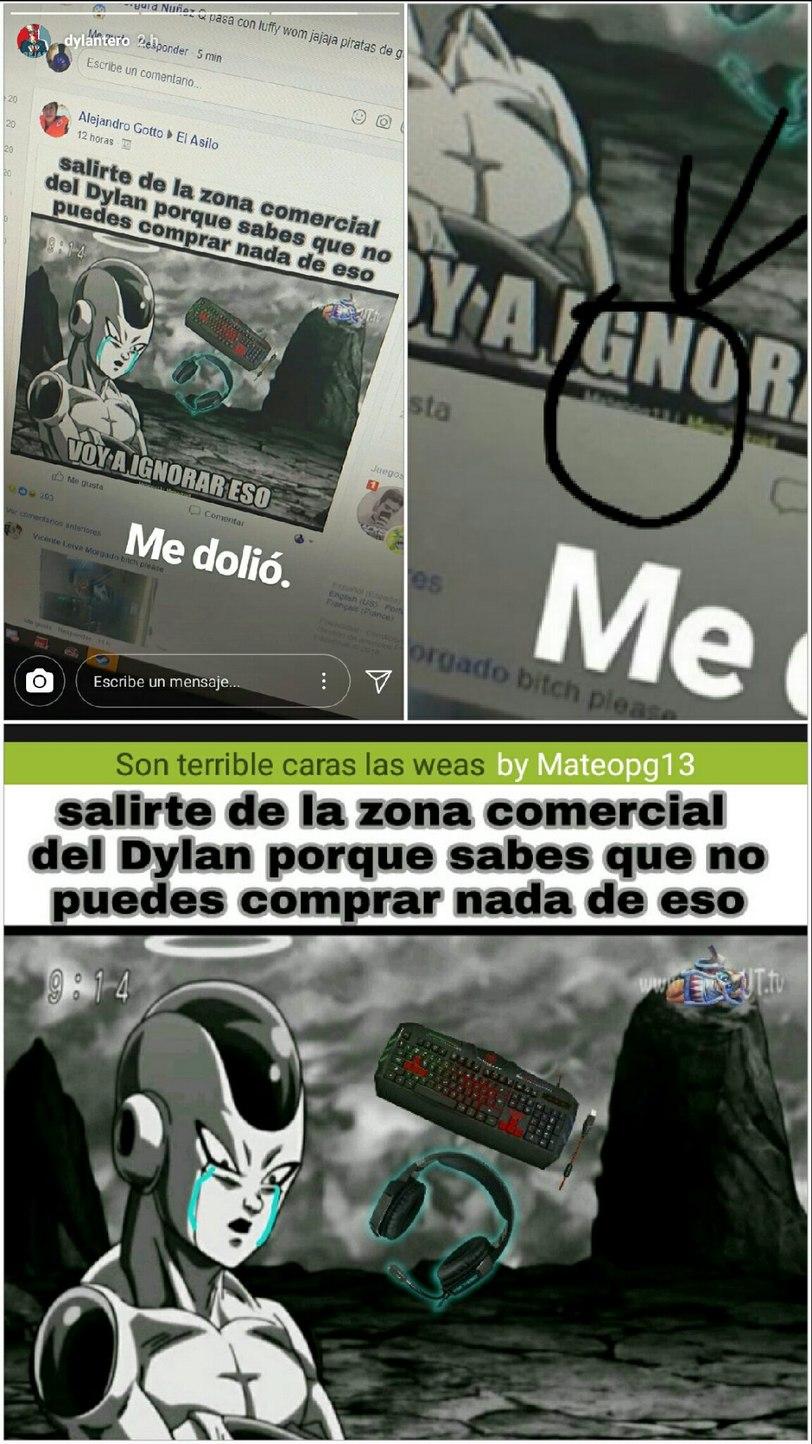Epica la wea me conoce el dylan - meme