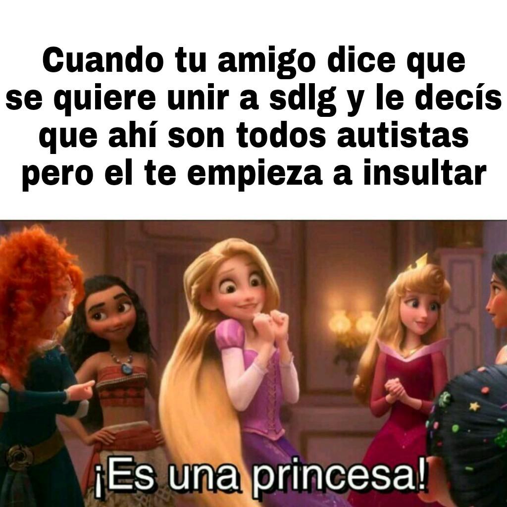 Un amigo es una princesa - meme