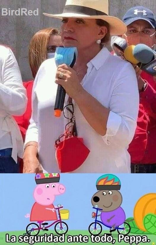 le esta poniendo mascarilla al microfono, que crack la doña - meme