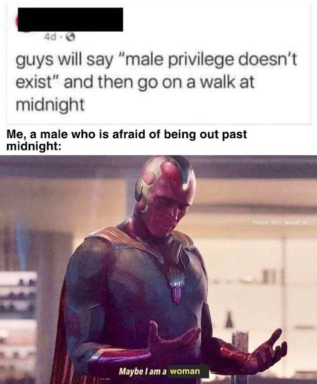 Male privilege doesn't exist! - meme