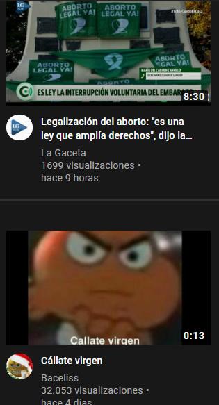 Recomendaciones que tuve en youtube, ¿que coincidencias no? - meme
