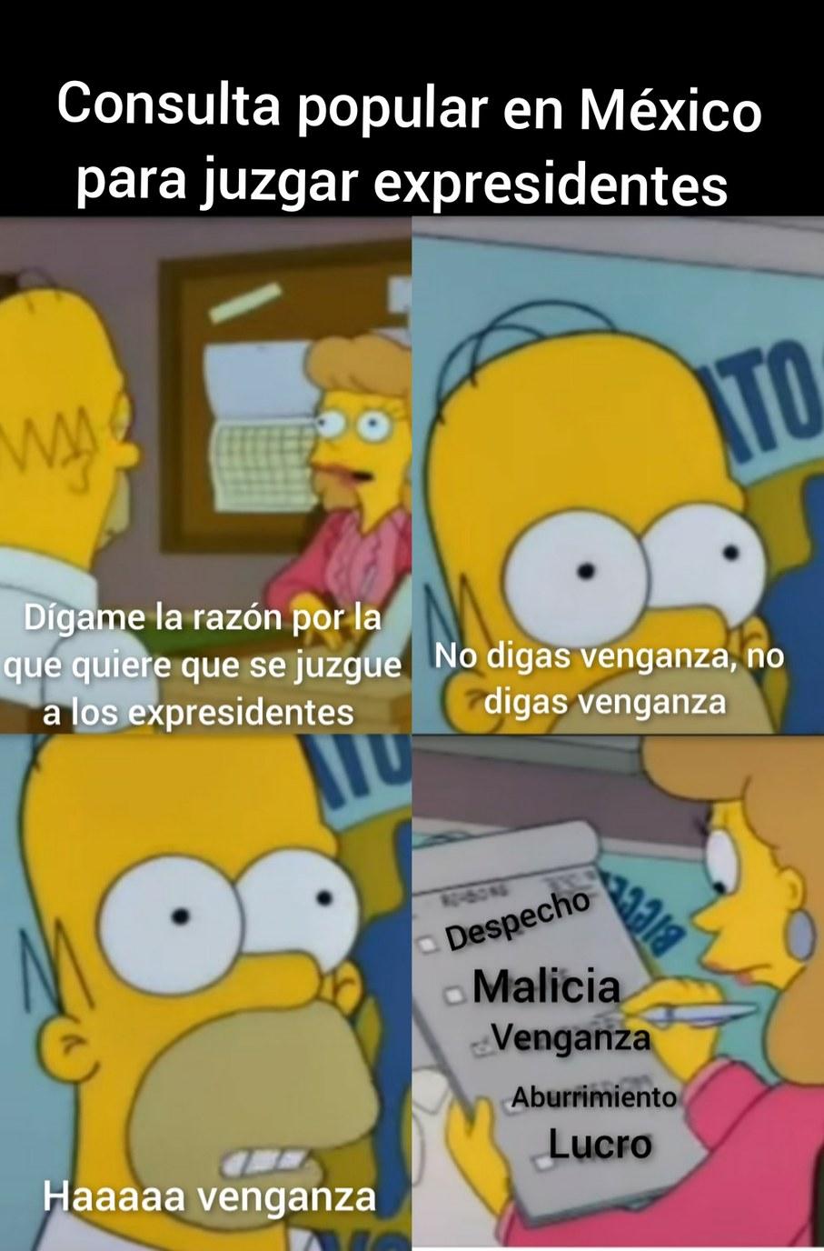 Consulta popular en México para juzgar a los expresidentes - meme