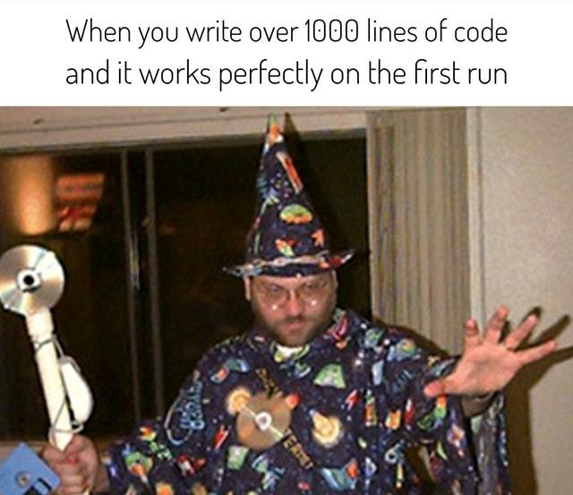 Coding Magician - meme