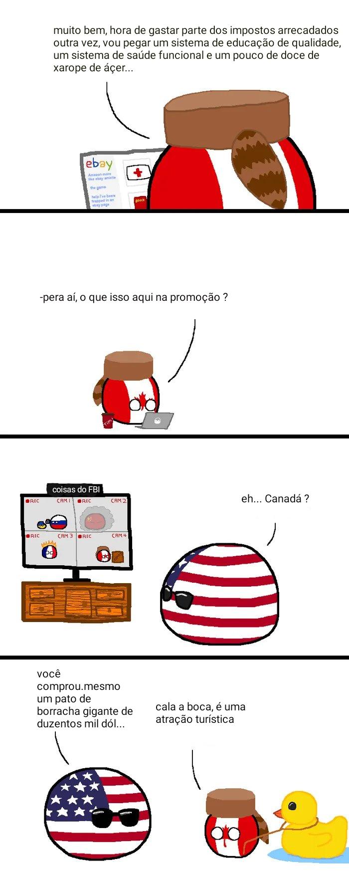 Eu já mencionei que eu amo essas tirinhas dos países. Fonte: 9GAG - meme