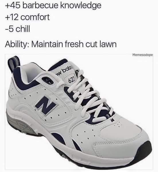 The dad shoe - meme