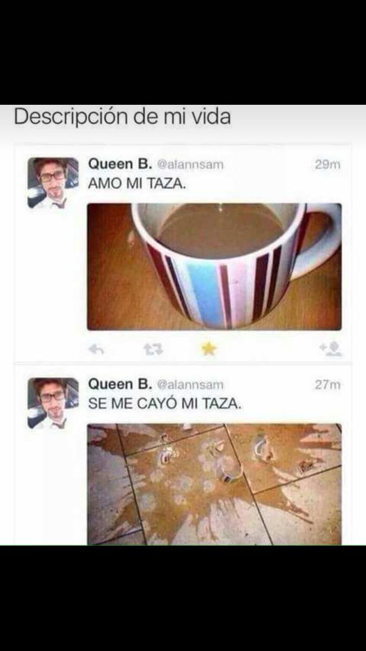Pobre taza - meme