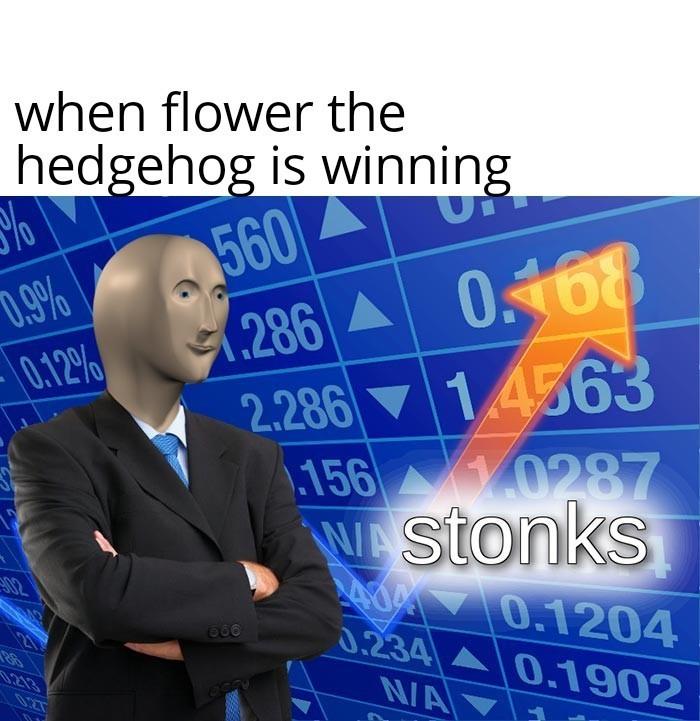 Vote for flower! - meme