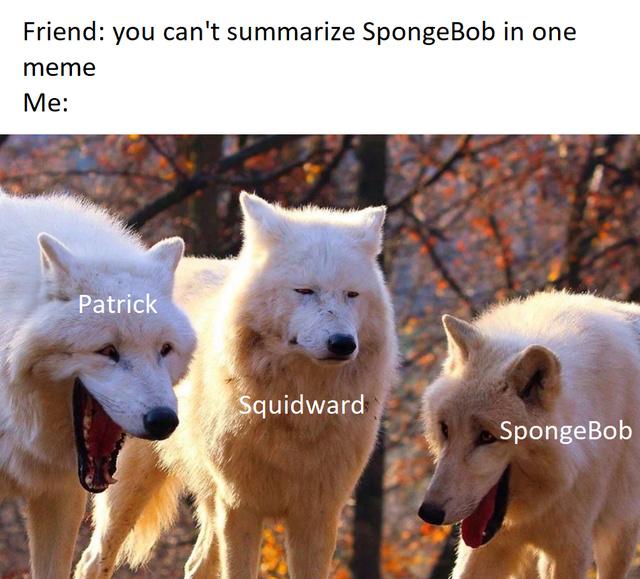 You can't summarize Spongebob in one meme