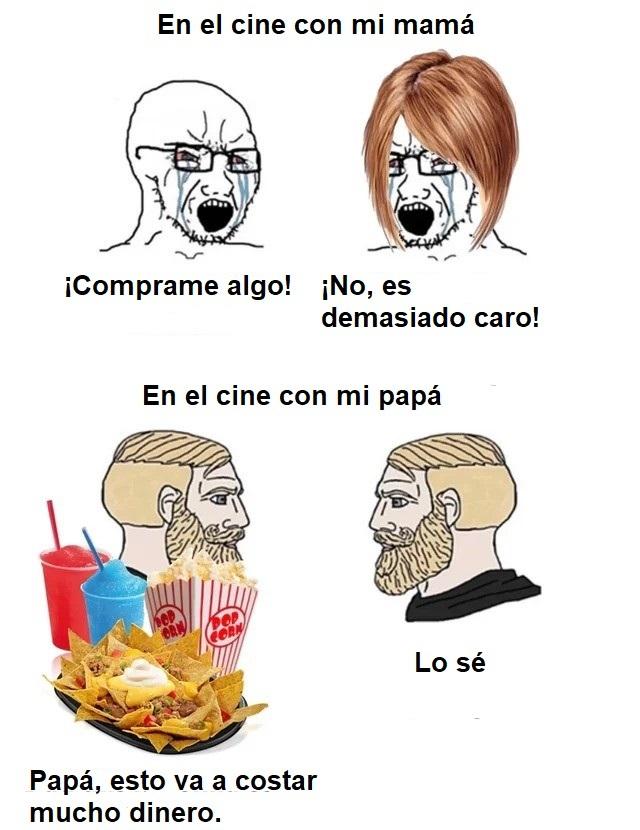 En el cine con tus padres - meme