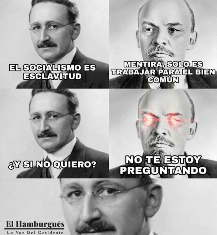 Mis respetos Hayek - meme