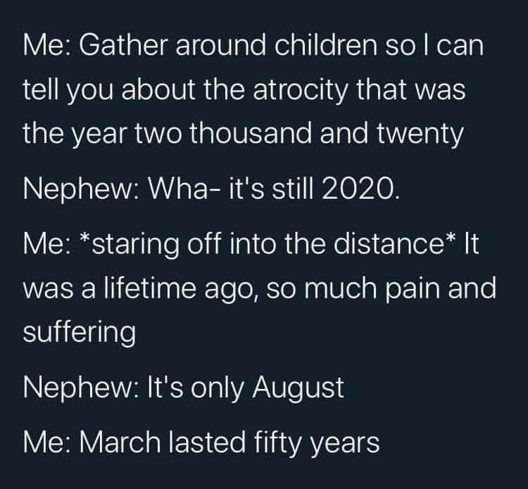 We had catastrophic events every five seconds - meme