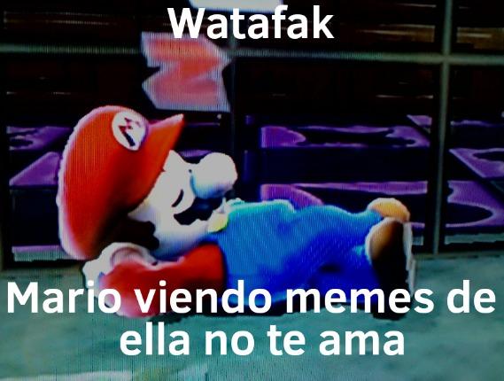 Watafak, Mario viendo los memes del autor