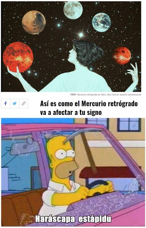 Horóscopo estúpido - meme