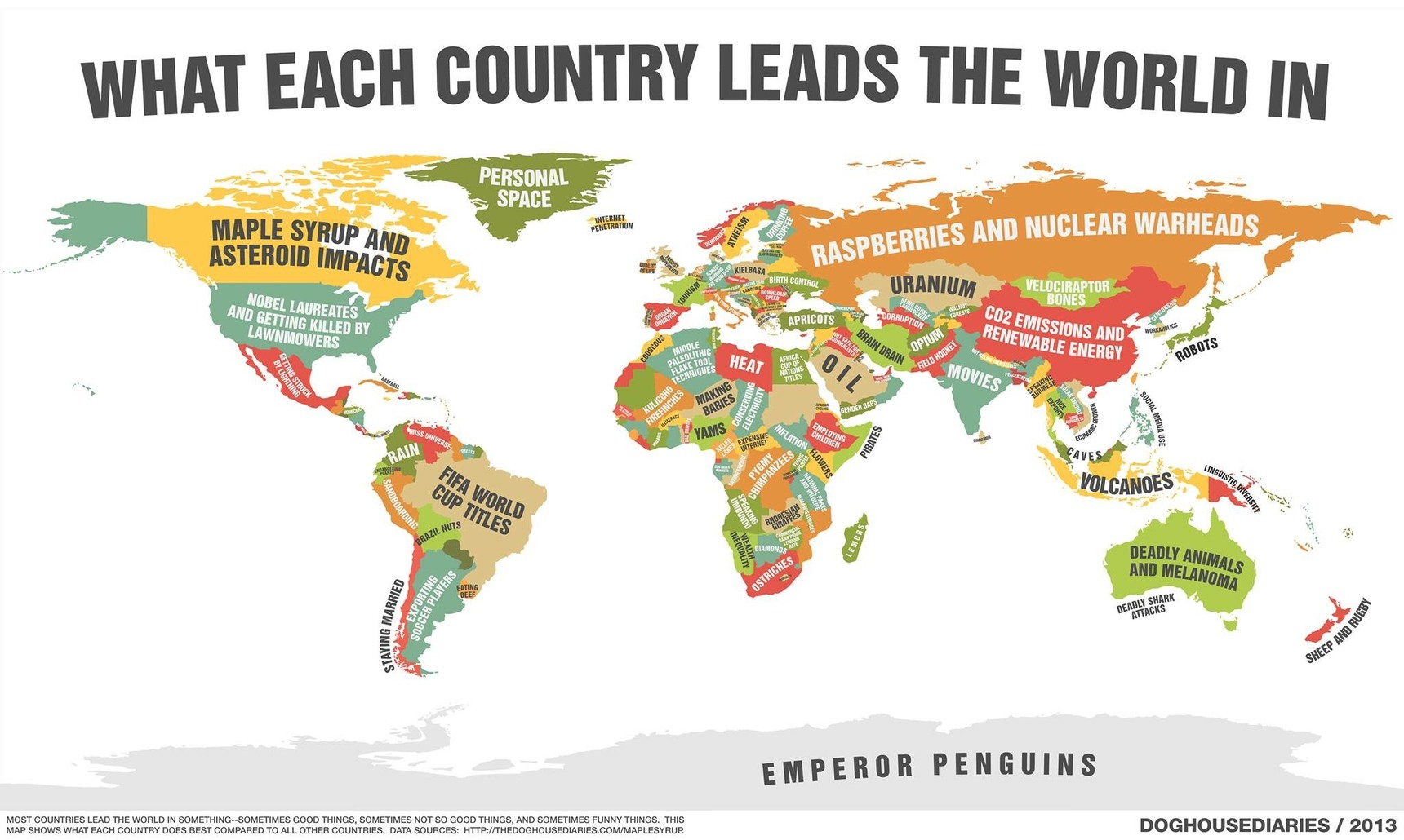 What every country leads in - meme