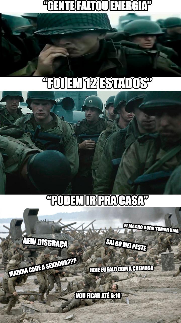 FALTOU ENERGIA DISGRAÇA - meme