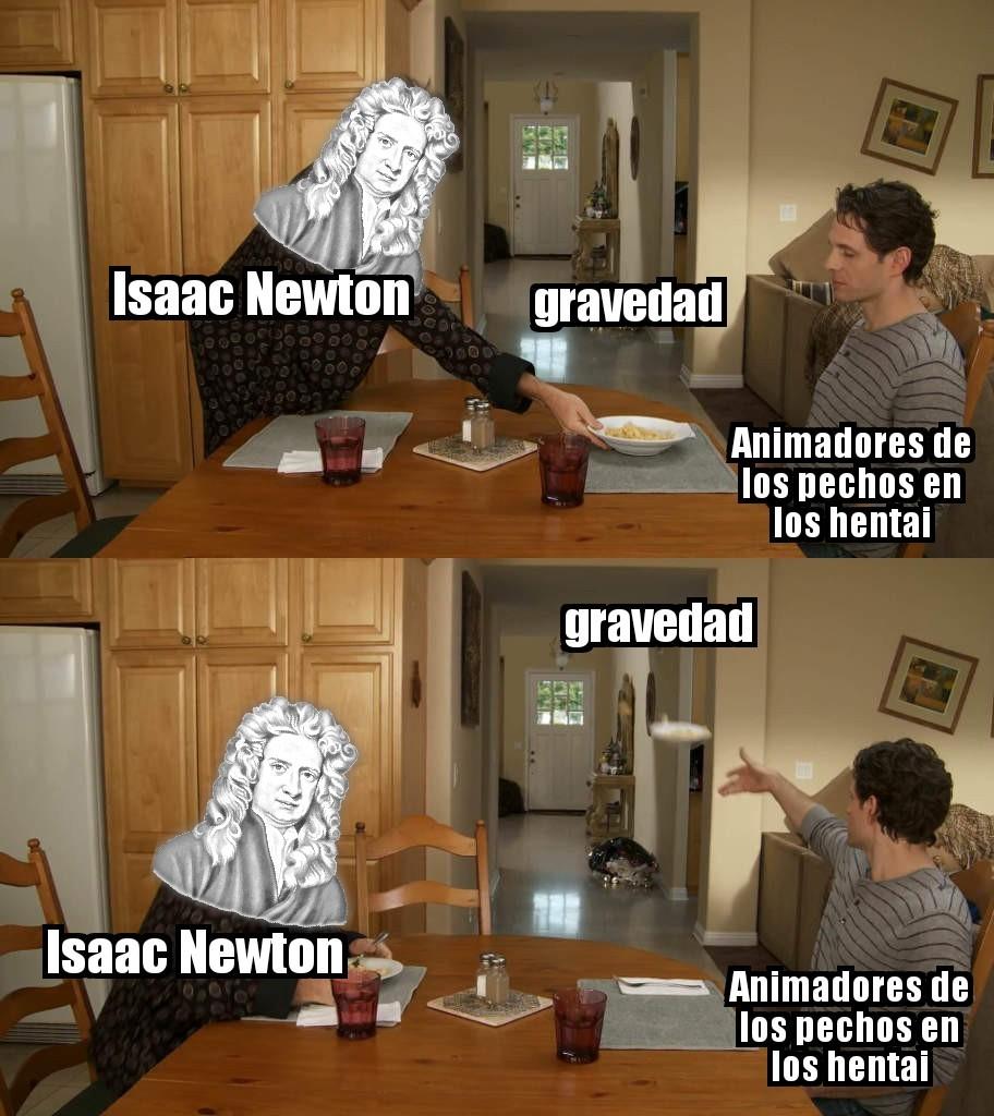A tomar por culo las leyes de la física - meme