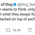 Always room for dogs.