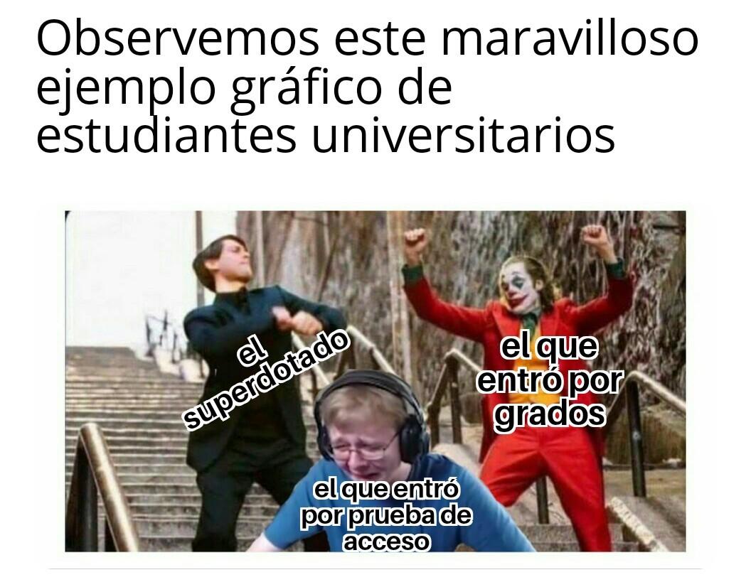 Estudiantes universitarios - meme