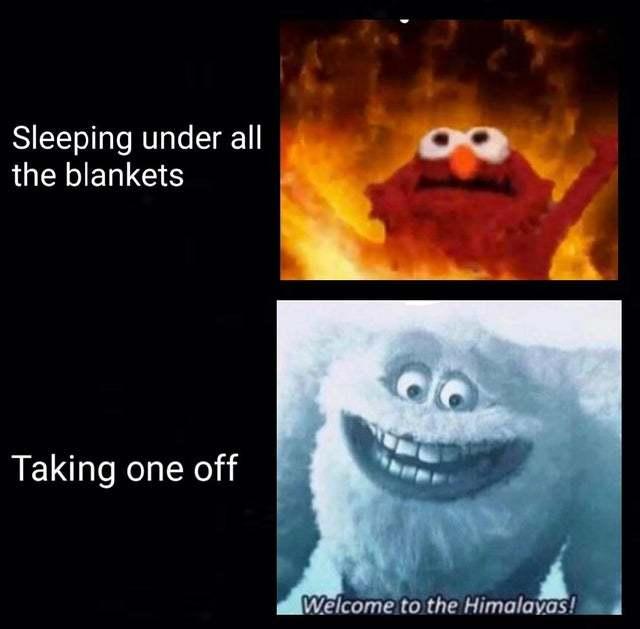 Comfy at bed - meme
