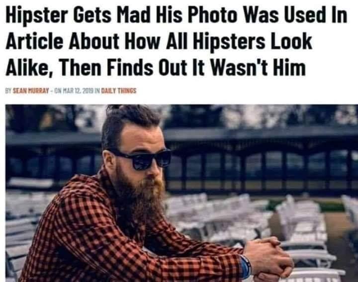True hipster - meme