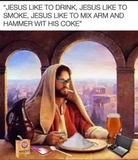 Jesus hip AF - meme