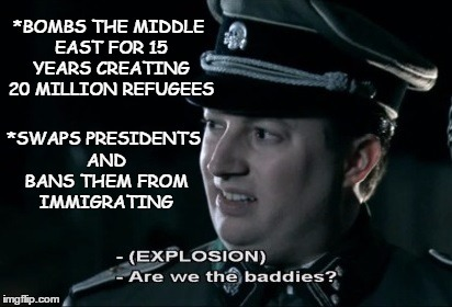 Are we the baddies - meme